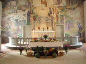 Skördetid Oderljunga kyrka
