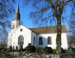 Tidig vår vy Oderljunga kyrka